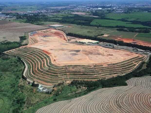 Aterro da Estre em Paulínia, no interior de São Paulo, que implantou tecnologias para reduzir as emissões de CO2 desde 2006 e já negociou 600 mil toneladas no mercado de crédito de carbono.